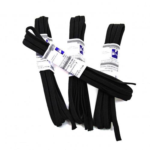 Резинка д/белья №РВ2-3-1 (0,7*230)см 4шт в ср. уп. чёр. цвет (480)