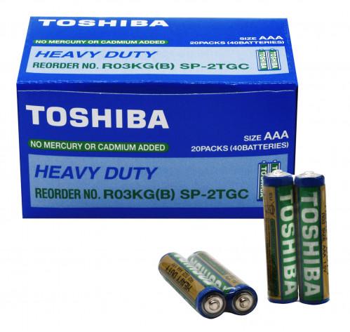 Батарейка R03 Toshiba в спайке 2шт, уп.40шт  (1000/200/40)