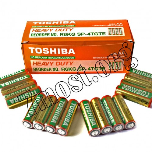 Батарейка R03 Toshiba коробка 2шт (1000/200/40)
