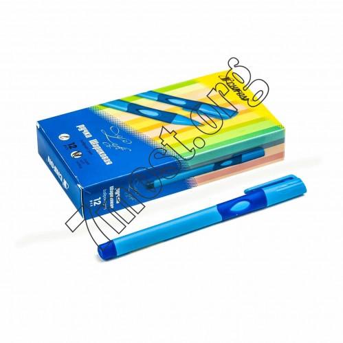 Ручка шариковая №1361-2 для лев. руки син. стерж. 30шт в кор. (2400)