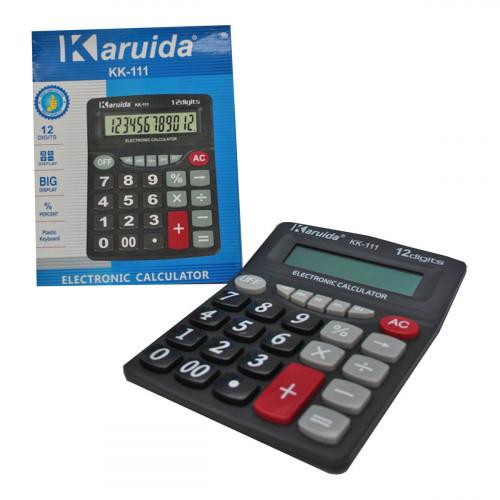 Калькулятор №111-12 (№KK-111) 12цифр чёр. цв. 1R6 (16*20)см (60)