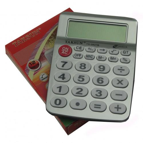 Калькулятор №TS-3827B 12цифр 2R3 чёнобел. в кор. (120)