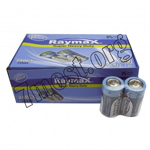 Батарейка Raymax R14P UM2 C 1.5V   shrink (480)