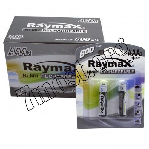 Аккумуляторы Raymax HR03 1.2V 600mAh Ni-MH AAA blister/2pcs (120/24)