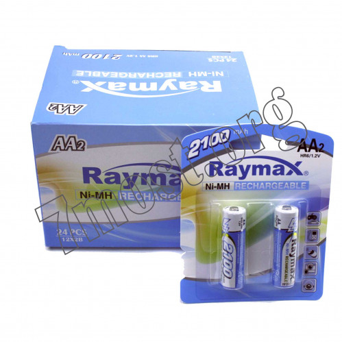 Аккумуляторы Raymax HR6 1.2V 2100mAh Ni-MH AA blister/2pcs (120/24)