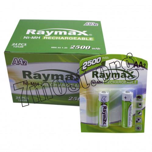 Аккумуляторы Raymax HR6 1.2V 2500mAh Ni-MH AA blister/2pcs (120/24)