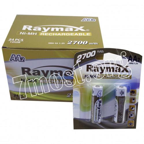 Аккумуляторы Raymax HR6 1.2V 2700mAh Ni-MH AA blister/2pcs (120/24)