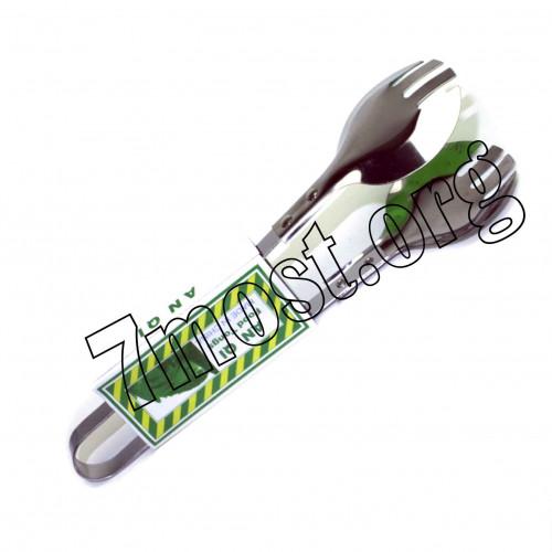 Щипцы №BY-7007-F мет. кух. (2,5*6,5*24)см с круглой вилкой (288)
