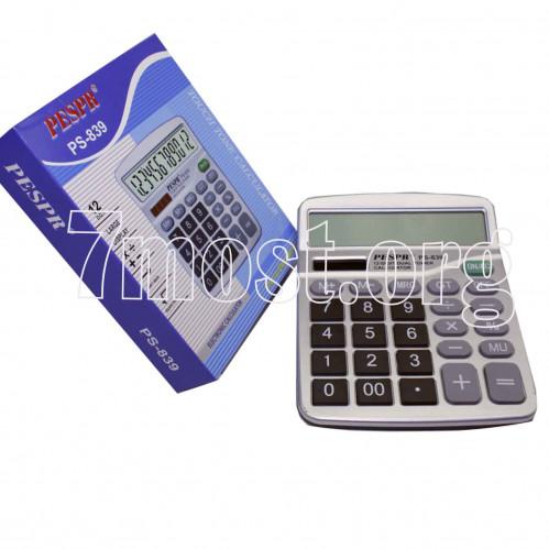 Калькулятор №PS-839 12цифр 1R6 1цв в кор. (5*14,5*18)см (80)