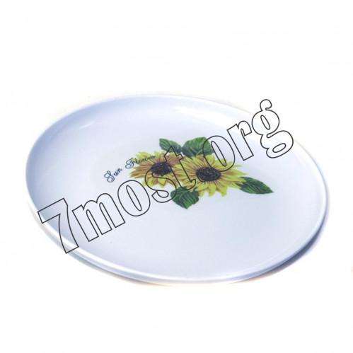 Тарелка №401 для второго меламин. с рис. 3цв бел. (20*3)см (180)