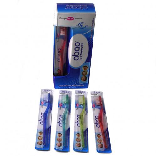 Зубная щётка №609 взр. пл. 4цв прозр. на листе 1шт в бум. кор. 12шт (576)