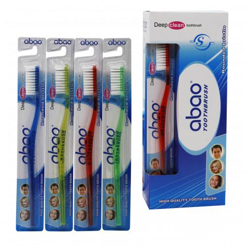 Зубная щётка №609 взр. пл. 4цв прозр. на листе 1шт в бум. в уп.12шт (576)