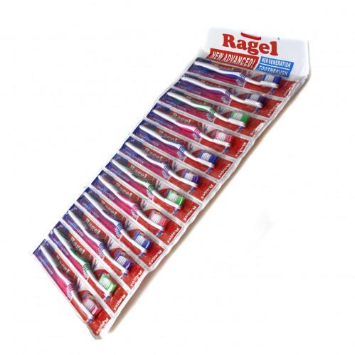 Зубная щётка №604 (№604-12) пл. на листе 12шт взр. 12цв (1200)