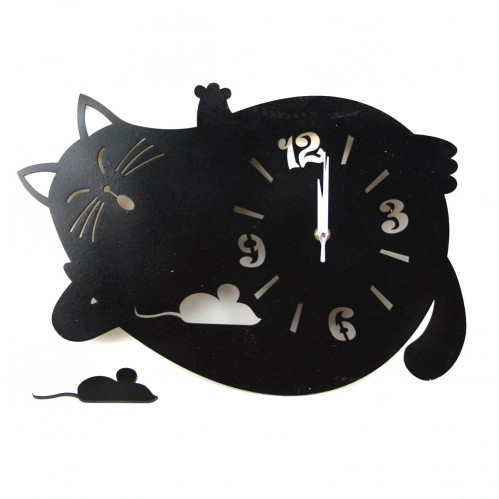 Часы настен. Ленивый Кот Халва (13)