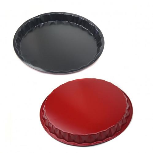 Форма №FM-8 метал. чёрнокр. цв. для кекса круг. (0,1*3*27,8)см в кл. (100)