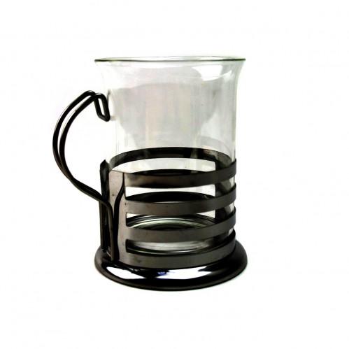 Стакан №KFB-200 стекло метал. подст. 200мл. в бел. бум. кор. (120)