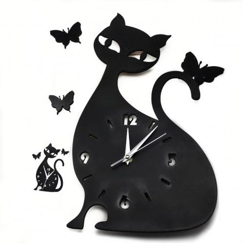 Часы настен. Кошка дер. (16)