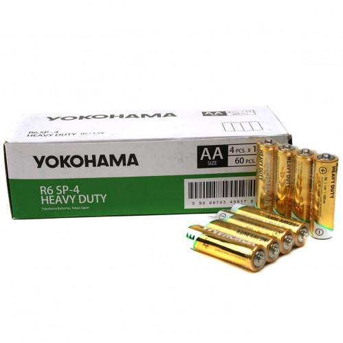 Батарейка R6 Yokohama кор.4 60шт в пач. (1200)