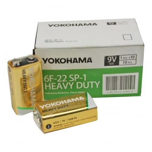 Батарейка 6F22 Yokohama кор. 10шт в пач. (500)