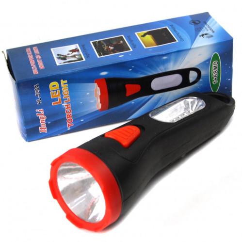 Фонарик №HL-528B-2 пл. 1+1прозр. лампа 2полож. 2цв. 2R6 в бум. пач. 1шт (240)