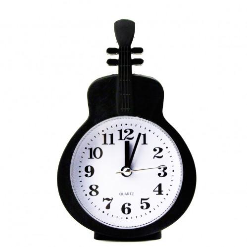 Будильник №НА-665 пл. чёр. цв. гитара без шума (9,5*4*15)см в кор. (160)