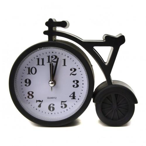 Будильник №НА-667 пл. чёр. цв. велосипед без шума (13,5*4*11)см в кор. (160)