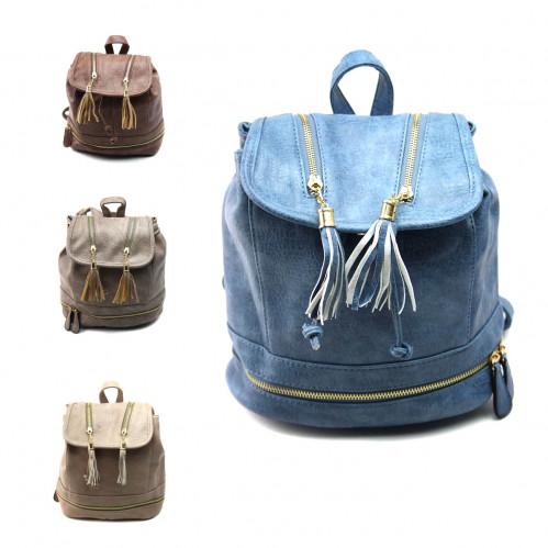 Рюкзак №PG-721-1 жен./подр. Pu на спине и руч. 1магн. кноп. 4зм (29*27*12)см 4цв (48)