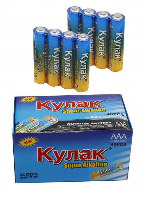 Батарейка LR03 Кулак  в уп.40шт. в спайке 4шт (1200/40)