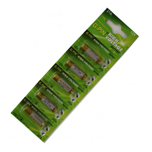 Батарейка Таблетка №27А 12v д/сигн. маш. и звонк. двер. на листе 5шт. в пач. 100шт. (400л)