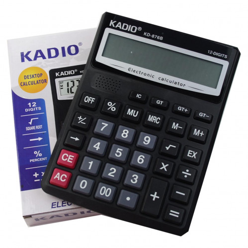 Калькулятор №KD-876В 12цифр 1R6 чёр. цв. (4,6*15,4*20,7)см (60)