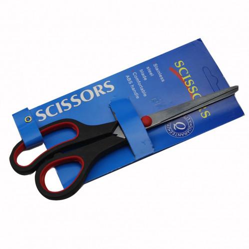 Ножницы №6500 металопл. с 2цв руч. на листе 12шт в ср. кор. 6,5д (600)
