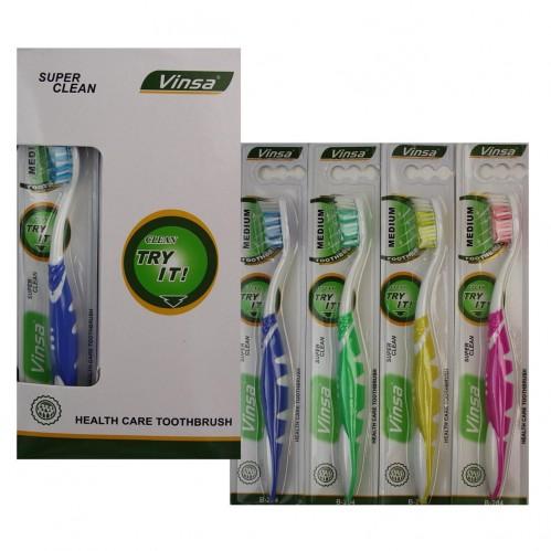 Зубная щётка №В-204 взр. пл. 1шт на листе 12шт в ср. коробке (576)