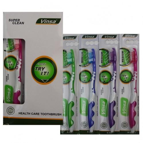 Зубная щётка №В-205 взр. пл. 1шт на листе 12шт в ср. коробке (576)