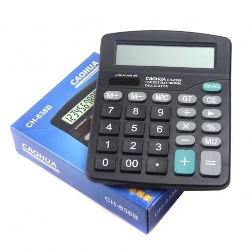 Калькулятор №KK-838B (№838В) пл. прямоуг. (6*14,3*18)см чёр. цв. 1R6 в кл. в кор. (80)