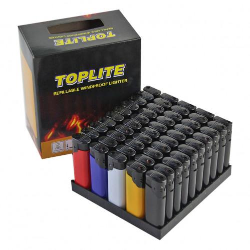 Зажигалка №002 турбо цветная без фонарика (1000)
