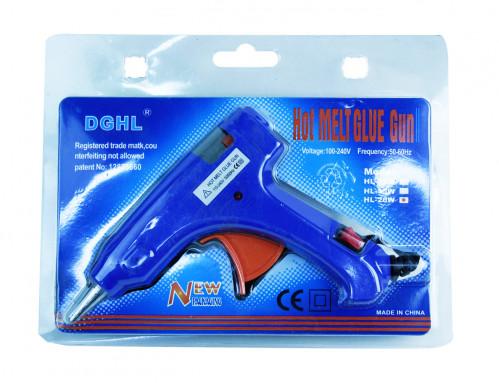 Пистолет №20В (№20В-2) для сухого клея металопл. мал. с кноп. син. (96)