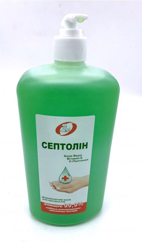 Антисептик Септолин гел  зел. 1литр гелеобразный (9)