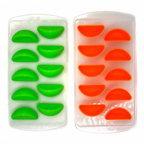 Форма №503А-16 для льда силикон. и пл. фигура Апельсин 10разделов в кл. 3цв (200)