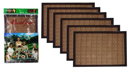 Коврики №А-8128 бамбук. обшит тканью 6шт в упак. цена за 1шт. (30*40) см. (600)