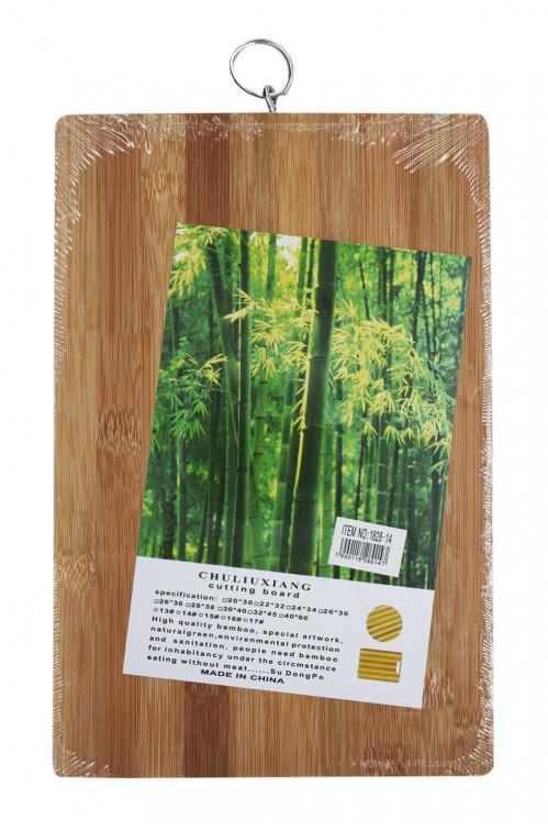 Доска №1828-14 бамбук. с крючком (18*28*1,4)см (40)