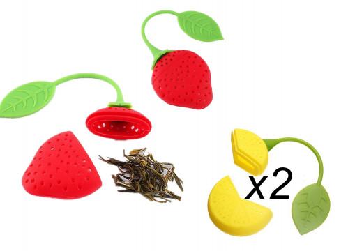 Сито №C-N для чая силик. форма лимон + клубника (1000)