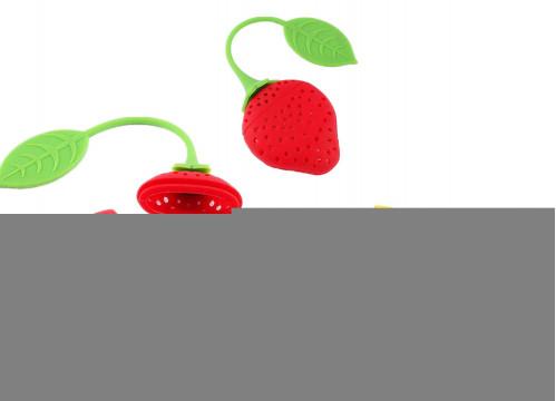 Сито №C-C для чая силик. форма клубника + лимон в кл. (1000)