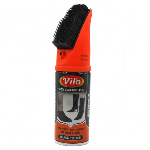 Спрей №VSS200 восстановитель Vilo для набука и замши и велюра 200мл чёрный (48)