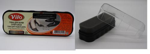 Губка №VPSA140 для обуви Vilo блеск широкая чёрная (96)