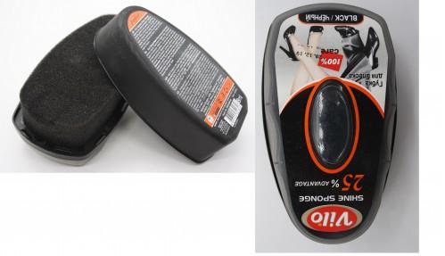 Губка №VHS300 Vilo Hobby для гладкой кожи в жёсткой упаковке чёрная (48)