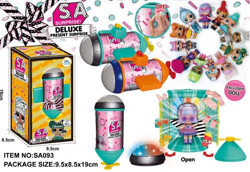 Игрушка №SA093 Кукла-сюрприз с  аксессуарами  светящаяся (9,5*8,5*19) см (96)