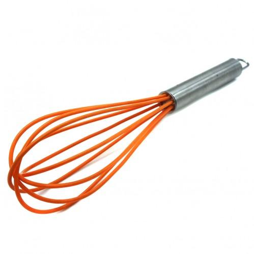 Венчик №YJ-G12  силик. с метал. ручкой 3цв 12д 12шт в кл. (300)