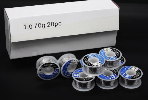 Припой №А1217-1 для пайки алюм. паяльником уп 20 шт 1мм  70 g (240)