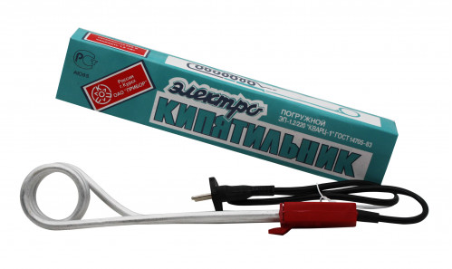 Кипятильник №1200V-H с пл. красной ручкой 1200В в кор. (120)