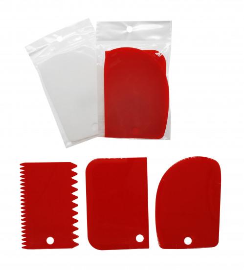 Лопатки №YBV-3 нож для муки 3шт 3вида в кл. 4цв (1000)